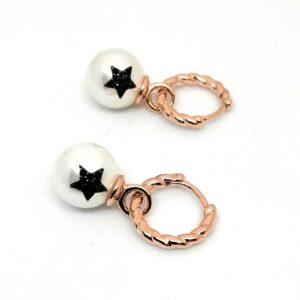 Orecchini argento e perla